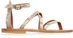 K Jacques St Tropez Epicure snake-effect leather sandals on shopstyle.com