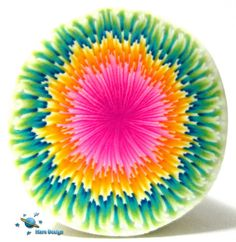 Colorful fountain flower cane by Marcia - Mars design, via Flickr