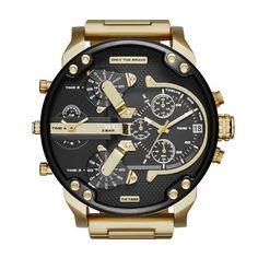 Diesel Mr Daddy - Men Wrist Watch on YOOX. The best online selection of Wrist Watches Diesel. Stainless Steel Watch, Stainless Steel Bracelet, Diesel Watches For Men, Herren Chronograph, Watch Brands, Cool Watches, Men's Watches, Jewelry Watches, Men's Jewelry