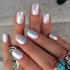 Soft chrome nail art