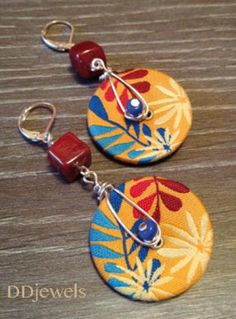 earrings with buttons