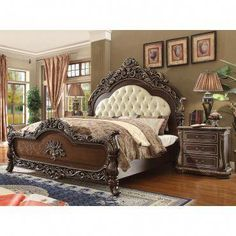 14 Fabulous Rustic Chic Bedroom Design and Decor Ideas to Make Your Space Special - The Trending House Royal Bedroom, King Bedroom Sets, Master Bedroom, Bedroom Bed, Bedroom Decor, Luxury Furniture, Bedroom Furniture, Cheap Furniture, Antique Furniture
