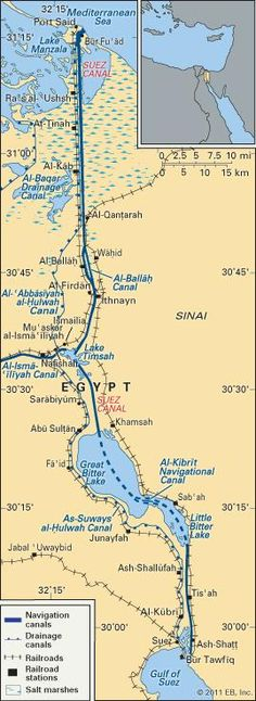 British and French engineers broke ground for the creation of the Suez Canal, on this day 25th April, 1859.  The excavation took some 10 years and altogether more than 1.5 million people from various countries were employed