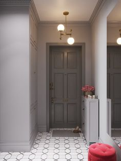 New apartment entrance foyer house 58 Ideas Apartment Decorating Rental, Apartment Entryway, Apartment Entrance, Living Room Decor Apartment, Room Doors, Cool Apartments, Mudroom Design, Entrance Door Design, Apartment Door