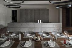 Фото интерьера кухни дома в современном стиле