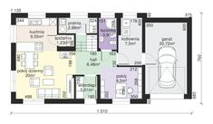 House design - House at Głogowa 3 - GaleriaDomow. Attic House, Micro House, House Plans, Sweet Home, Floor Plans, House Design, How To Plan, House Styles, Bikers