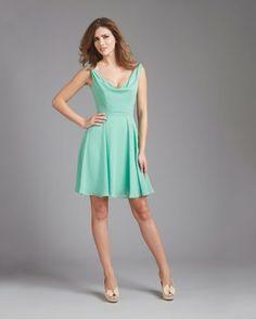 f341da18a9 2014 Deep V Back Chiffon Allure Bridesmaid Dress 1370.Allure Bridesmaid  Dresses