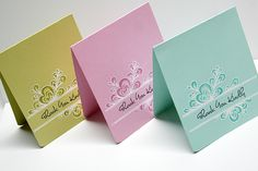 Quilled Thank You Cards by Danielle Flanders for Papertrey Ink (December 2012)