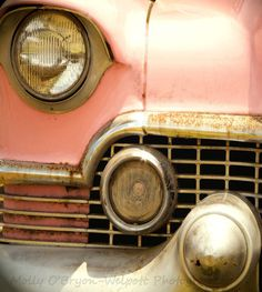 Classic Car  Photograph Vintage Pink Cadillac fine by MollysMuses, $18.00