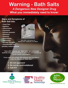 Dangers of Bath Salts- Users of bath salts often buy this synthetic cathinones containing drug considering to be an alternative to it's illegal counterparts