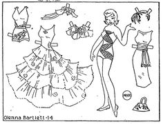 Paper Dolls Printable Black And White Paper doll coloring pages 1