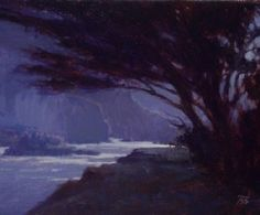 Midnight at Emerald Cove by Brian Blood - Oil