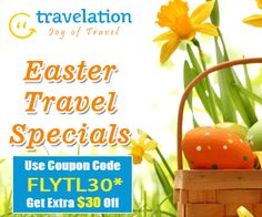 Exclusive Easter Travel Flight Deals! Get $15 Off with Coupon Code TLEASTER15. Book Now!