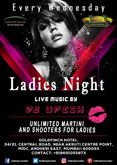 Ladies night is back in style again. This Wednesday, start the party with your girls only at Café Mojo Mumbai as we give you a night of unlimited shooters, music, and dancing.  #Pubs #Party #Beer #Fun #Beers #Enjoy #GoodTimes #OntheBar  #Parties #PartyMusic #DrinkLocal #Music #Dance #Pub #Drinks #EatLocal  #BeerDrinks #Mumbai  #OnthePub  #Clubbing #Club #Lounge #Bar.