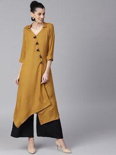 New Indian Women Pakistani Ethnic Suit Designer Bollywood Kurta Kurti Top Plain Kurti Designs, Silk Kurti Designs, Kurta Designs Women, Kurti Designs Party Wear, Dress Neck Designs, Stylish Dress Designs, Stylish Dresses, Indian Fashion Dresses, Indian Designer Outfits