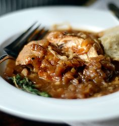 Definitely going to make this ... Braised French Onion Chicken with Gruyere Cheese