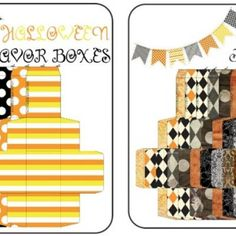 Printable Party Favor Gift Boxes