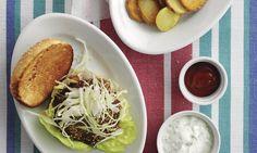 Würziger Farmerburger - Rezepte - Schweizer Milch Rind, Meat, Chicken, Swiss Guard, Milk, Cubs