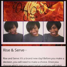 Rise and Serve... www.beyondbellagrace.wordpress.com