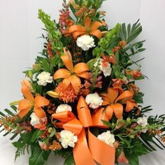 #tribute #fallcolors #fallflowers #lilies #carnations #snapdragons