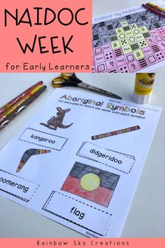 This pack of NAIDOC Week activities for kids will keep them engaged while learning. Teaching resources and lesson ideas are meaningful and suitable for students in Kindergarten. Teach children the meaning behind NAIDOC Week by celebrating the history, culture and achievements of Aboriginal and Torres Strait Islander people in Australia {prep, foundation, early years, homeschool} #rainbowskycreations History Activities, Kindergarten Activities, Educational Activities, Activities For Kids, Indigenous Education, Aboriginal Education, Indigenous Art, Teaching Kids, Teaching Resources