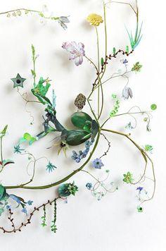 """lifeasawaterelement:  """" Anne ten Donkelaar- Flower constructions  """""""