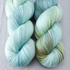 This light aqua touched with flashes of gold reminds us of iridescent insect wings. This colorway is a Babette: every skein and every batch is a bit different, Insect Wings, Dk Weight Yarn, Hand Dyed Yarn, Yarn Colors, Shawls And Wraps, Baby Items, Throw Pillows, Knitting, Fabric