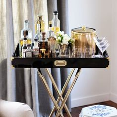 Make your own inexpensive bar tray. (via Honestly Yum)