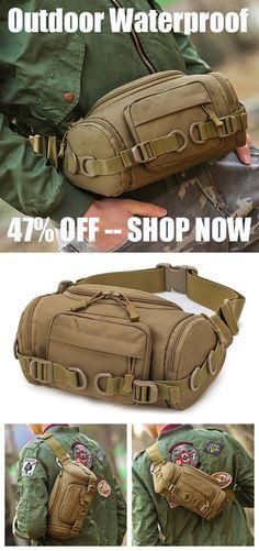 25a3b81aefa9 Nylon Outdoor Waterproof Tactical Sling Bag Chest Bag Waist Bag Crossbody  Bag is hot-sale