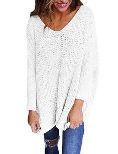 f5b25a2cf9 Women 2017 Winter Autumn Warm Loose Oversized Long Sleeve Knitted Knitwear  V Neck Sweater Tops Blouse Blusas Shirt Tunic Jumper