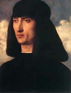 BELLINI, Giovanni Italian painter, Venetian school (b. ca. 1426, Venezia, d. 1516, Venezia)  Portrait of a Young Man c. 1500 Oil on panel, 32 x 26 cm Musйe du Louvre, Paris