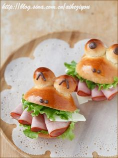 How to Make Mini Frog Sandwich With Ham and Cheese | www.FabArtDIY.com
