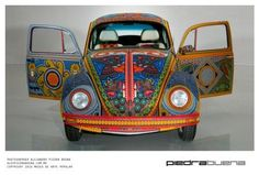 beaded VW bug. Incredible - Smithsonian National Museum of the American Indian. Go check out the other photos -- close-ups. Awesome!