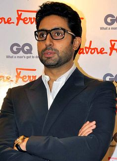 Abhishek Bachchan. Do I like him better with hipster glasses or without? It's hard to say.