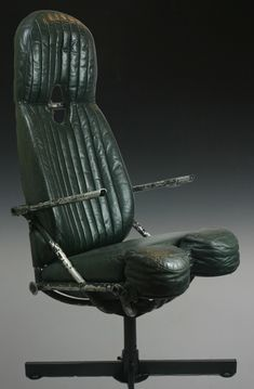 WWII Vickers Wellington Bomber Pilot Seat. #industrial #interiors