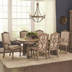 Ilana Traditional 7 Piece Table And Chair Set Dining Room