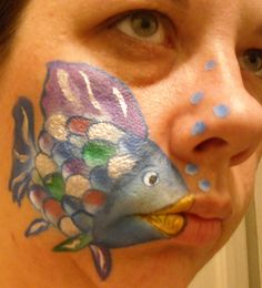 Rainbow Fish  Linda Schrenk/Amazing Face Painting by Linda, Jacksonville FL