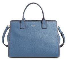 Kate Spade New York Dunne Lane Lake Leather Satchel - Blue