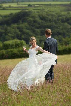 In the flower meadow - Trevenna wedding venue in St. Neot, Liskeard, Cornwall