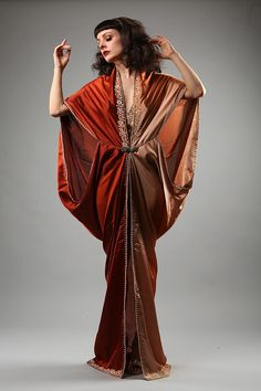 Flapper Style, Flapper Fashion, Asian Fashion, Girl Fashion, Art Deco Fashion, Vintage Fashion, Burlesque Outfit, Satin Dressing Gown, Vintage Inspired Outfits