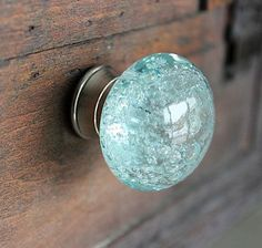 Turquoise Glass Drawer Knob