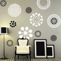 cool abstract graffiti ornament wall stickers murals for small - Wall Sticker Design Ideas