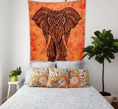 ELEPHANT MANDALA TAPESTRY, 84X54 In.