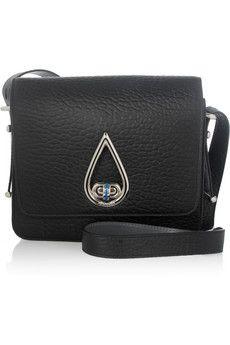 KENZO Raindrop textured-leather shoulder bag   NET-A-PORTER