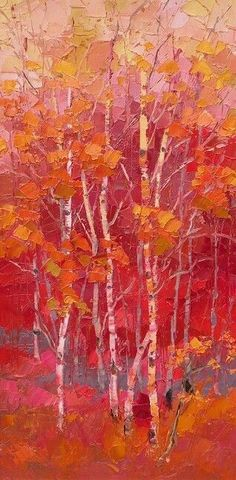 """""""Praises Ring"""" ~ Oil Painting by Troy Collins Landscape Art, Landscape Paintings, Painting & Drawing, Watercolor Paintings, Painting Canvas, Art Paintings, Autumn Art, Autumn Forest, Tree Art"""