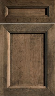 Dura Supreme Cabinetry Lynden cabinet door style shown in Cherry with a Morel stain finish.