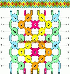 Normal Friendship Bracelet Pattern #9599 - BraceletBook.com