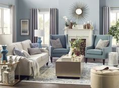 Get inspired by Traditional Living Room Design photo by Joss & Main. Wayfair lets you find the designer products in the photo and get ideas from thousands of other Traditional Living Room Design photos. Living Room Decor Cozy, Formal Living Rooms, Living Room Grey, Living Room Interior, Home Living Room, Living Room Without Tv, Decor Room, Kitchen Interior, Modern Living