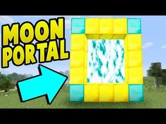 A step by step guide in minecraft on how to make a portal to the moon in minecraft. In this tutorial i show you how to make a portal in minecraft to the moon. Minecraft Portal, Minecraft Cheats, Minecraft Secrets, Minecraft Plans, Amazing Minecraft, Minecraft Videos, Minecraft Tutorial, Minecraft Blueprints, Minecraft Creations