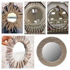 Coastal and sunburst style mirrors